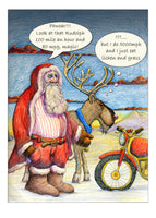 On Your Bike. Magic 'Reindeer vs Motorbike and Sidecar', it's a tough one Santa