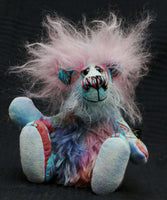 Ozzy, a bright and cheerful, one of a kind, artist teddy bear by Barbara-Ann Bears