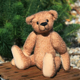 DJ PRINTED traditional jointed mohair teddy bear sewing pattern by Barbara-Ann Bears for a cute traditional 10 inch/25cm teddy bear