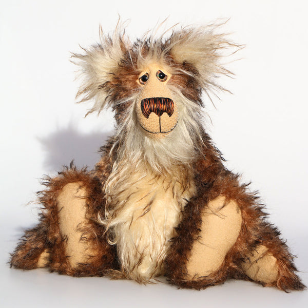 Romeo McGillygoggle a one of a kind, artist bear by Barbara-Ann Bears in wonderful fluffy tipped mohair