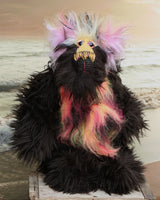 Samuel Snuzzlegutz is a splendidly characterful one of a kind, artist teddy bear by Barbara-Bears.