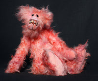 Floyd is a gentle, elegant and delicately colourful, one of a kind, artist bear by Barbara-Ann Bears in wonderfully matted mohair. Tattylicious stands 15.5 inches (40 cm) tall and is 12 inches (30 cm) sitting.