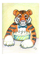 That's My Cake! Birthday Card. You have to be a tiger sometimes to defend your birthday cake