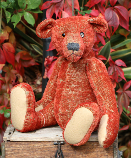 Grimble PRINTED traditional jointed mohair teddy bear sewing pattern ...
