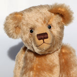 Wilbur is quite a large, sweet and cuddly, traditional one of a kind, artist teddy bear made in splendid English mohair by Barbara Ann Bears