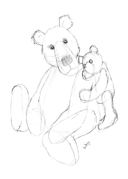 A Shoulder To Cry On Greeting Card, showing two teddy bears comforting each other