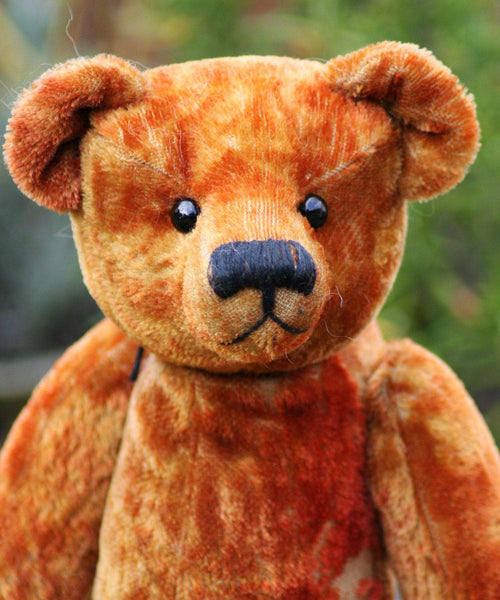 Bertie PRINTED jointed mohair teddy bear sewing pattern for a 11 inch (28cm) Barbara-Ann Bear