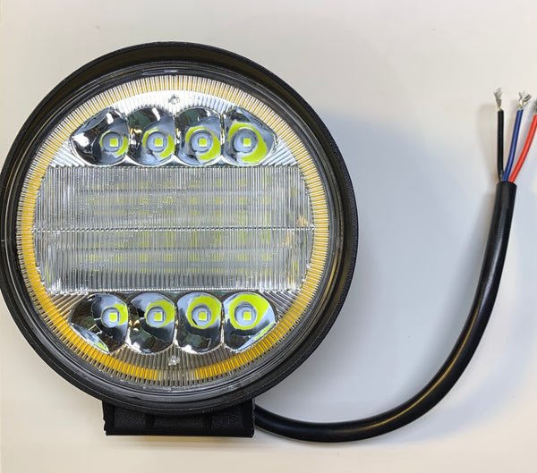 Round Driving/Boating Light 30WATT Spot Beam with Yellow Halo Ring