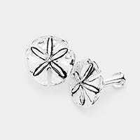 Sand Dollar Clip on Earrings