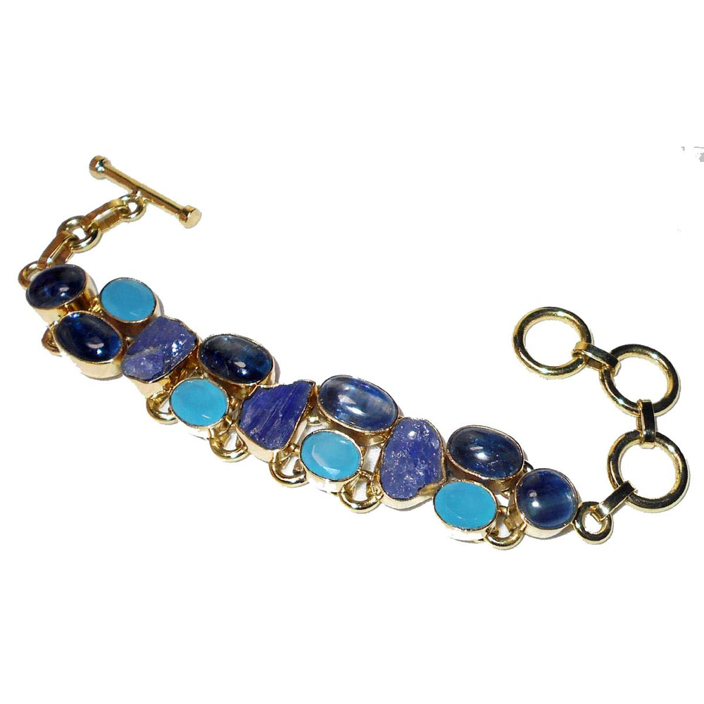Soho Kyanite + Tanzanite + Chalcedony Gemstone Bracelet