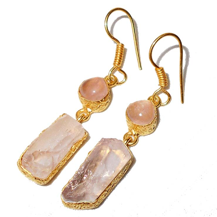 Vayu Rose Quartz Earrings