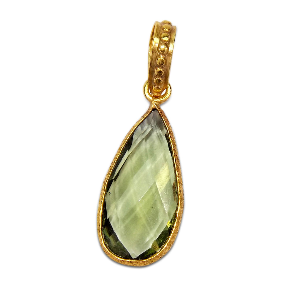 Kashvi Green Amethyst Necklace