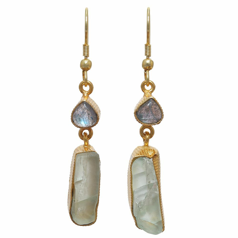Karuna  Labradorite + Fluorite Earrings