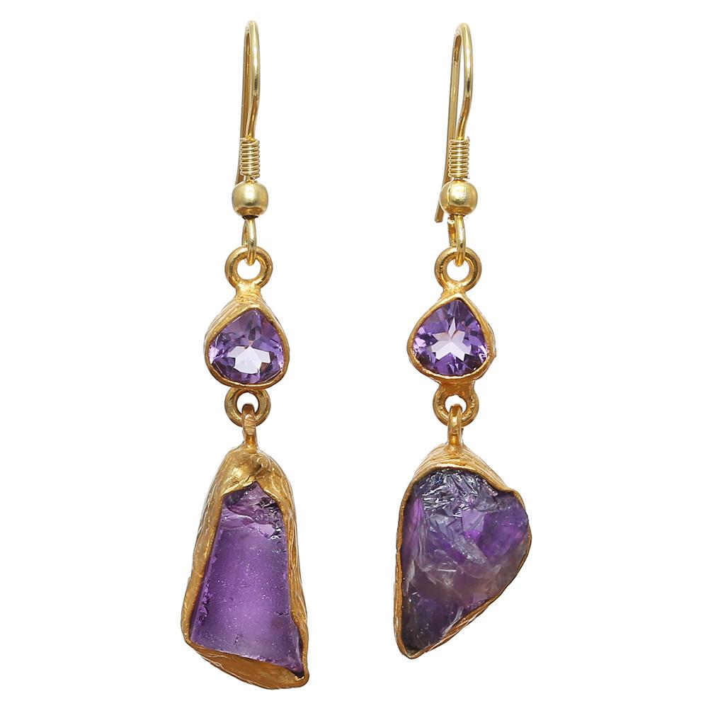 Janaki Amethyst Earrings
