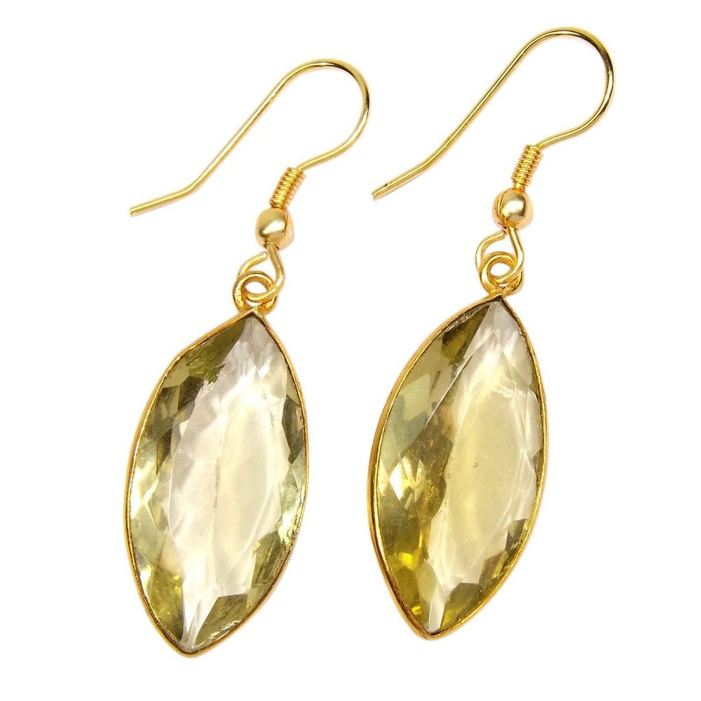 Surya Lemon Quartz Earrings