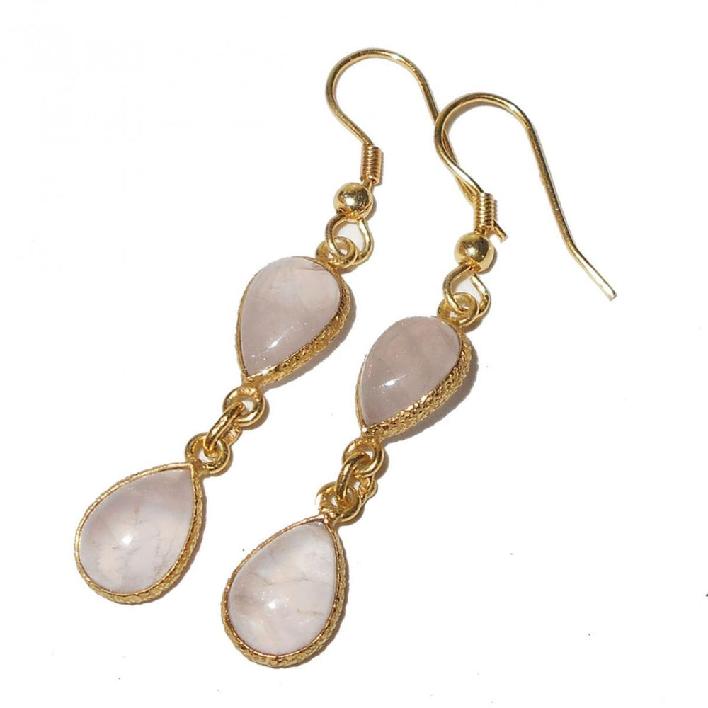 Pahal Rose Quartz Earrings
