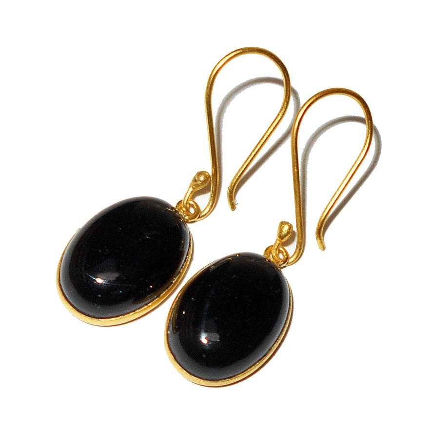 Monterey Black Onyx Earrings