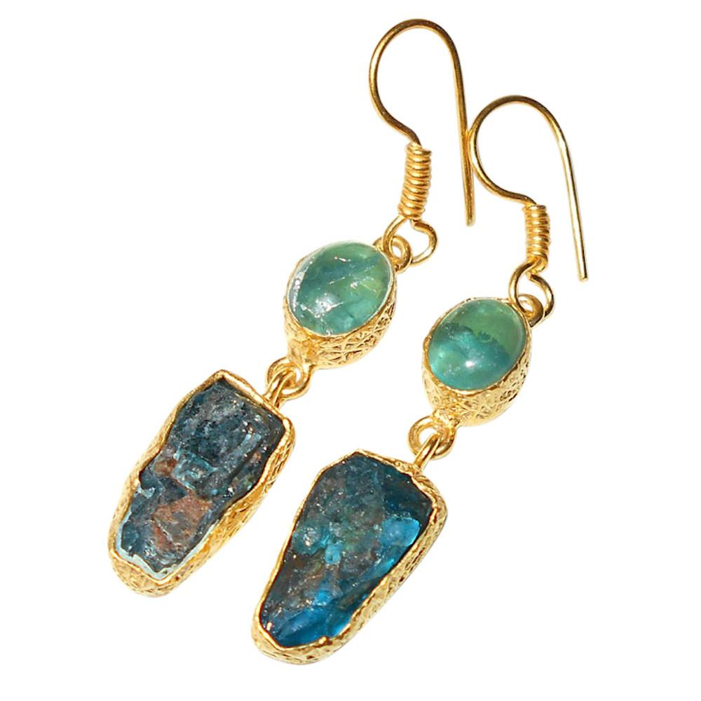 Catalina Fluorite + Chalcedony Earrings