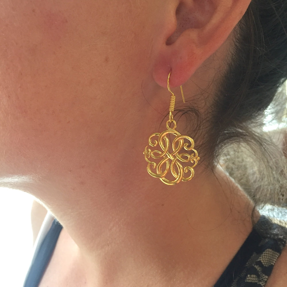 Celtic Flower Knot Earrings