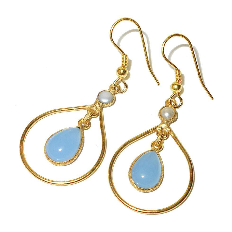 Adya Chalcedony Earrings