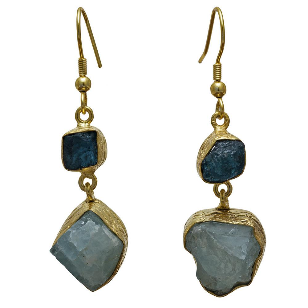 Tika Apatite + Aqua Chalcedony Earrings