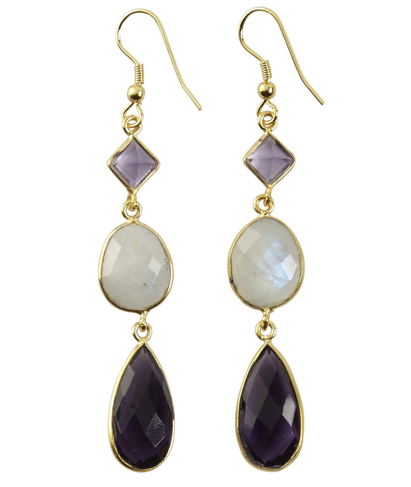 Jalsa Amethyst + Moonstone Earrings