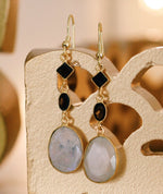 Gold-plated Earrings - Gemstone Handmade Earrings - Sitara Collections