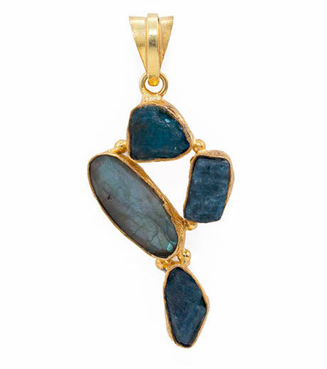 Lopa Labradorite + Apatite Necklace
