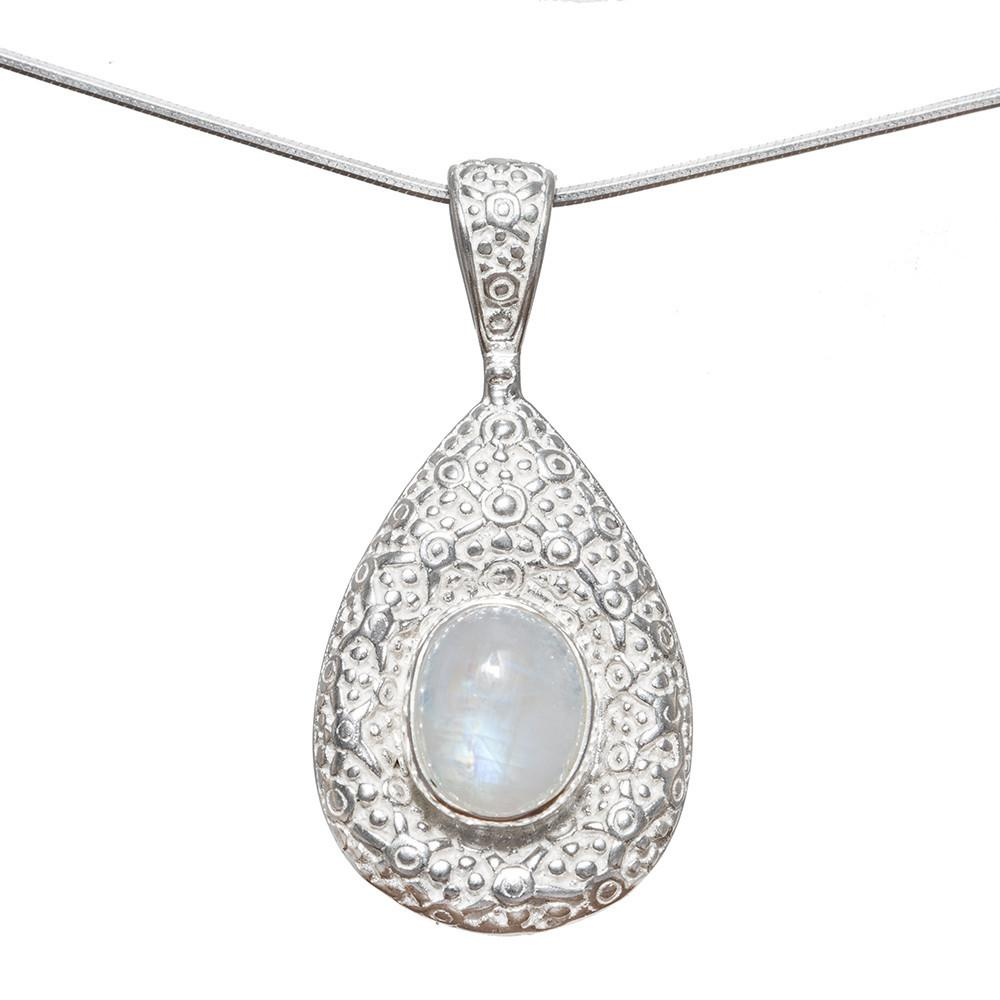 Triveni Rainbow Moonstone Necklace