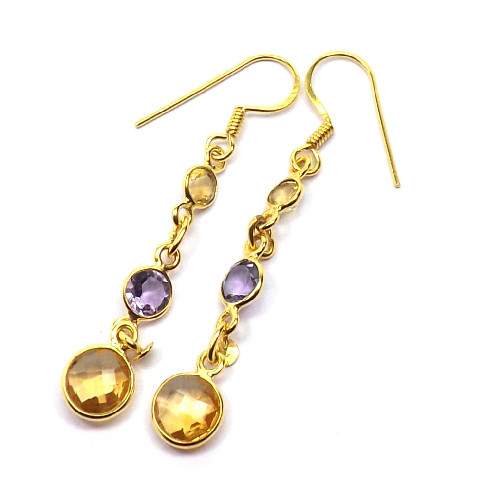 Ekani Citrine + Amethyst Earrings