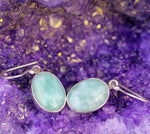 925 Sterling Silver Earrings - Handmade Larimar Gemstone Earrings - Sitara Collections