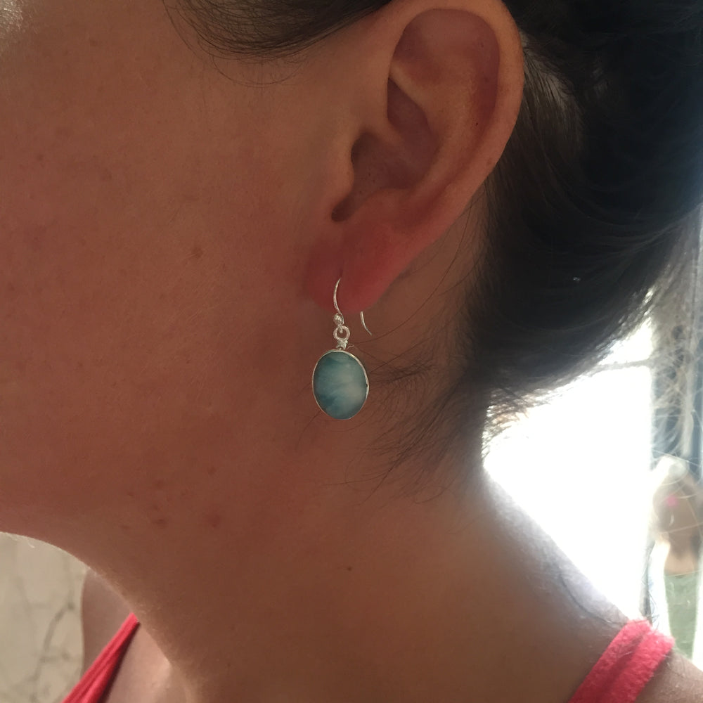 Ladli Larimar Earrings