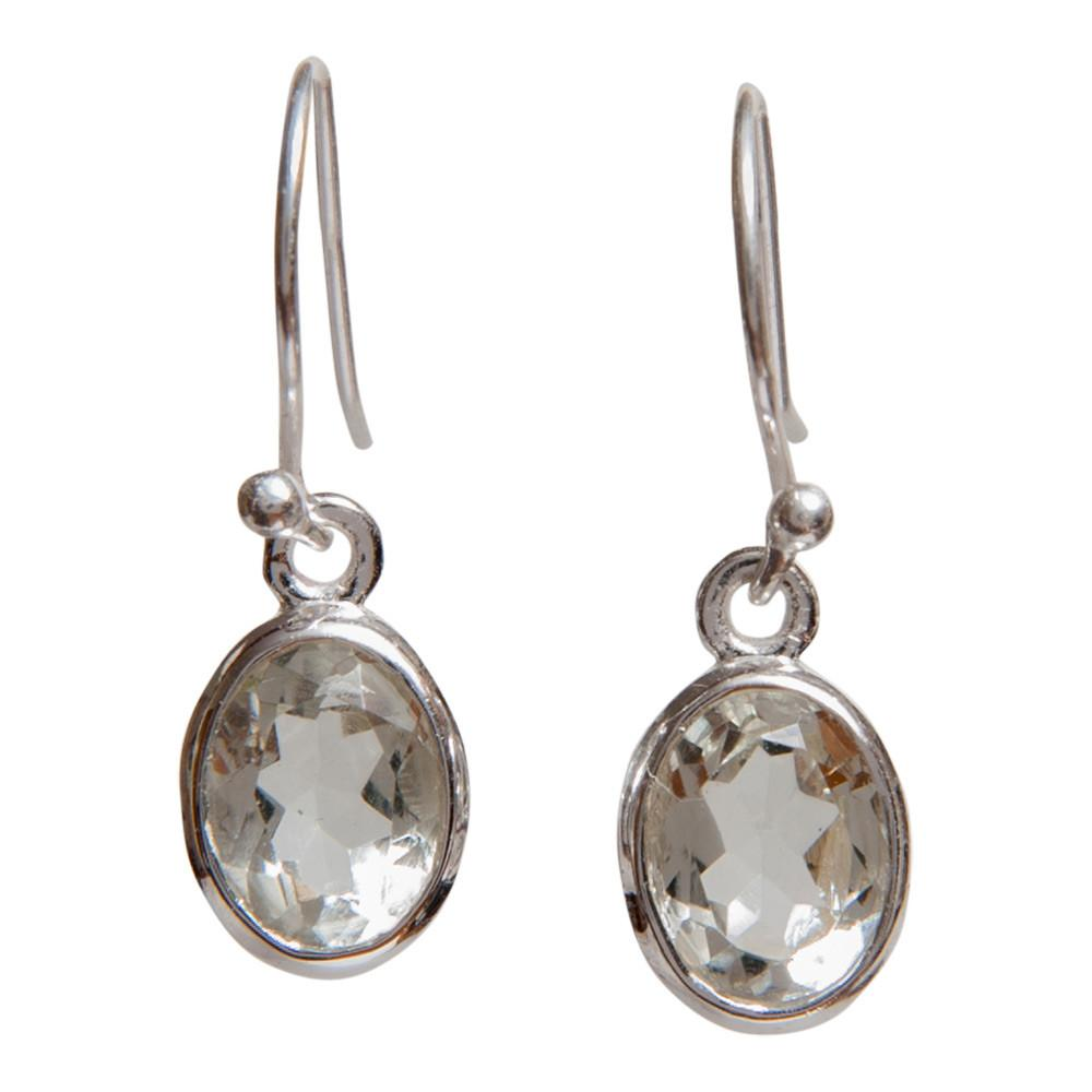 925 Sterling Silver Earrings - Handmade Faceted Gemstone Earrings - Sitara Collections