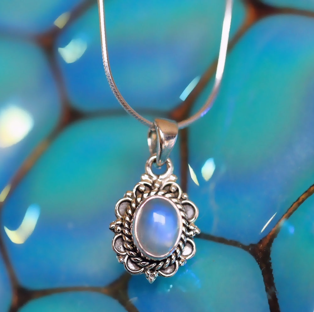 Tripti Rainbow Moonstone Necklace