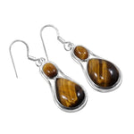Akshara Goddess Tiger Eye Earrings