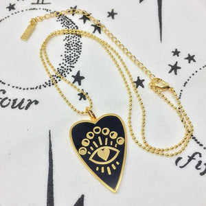 Heart to Soul- Evil Eye Heart Print Necklace