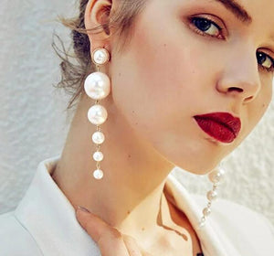 Trendy -Elegant Pearl Long Earrings