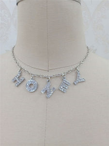Letter Crystal Angel Necklace