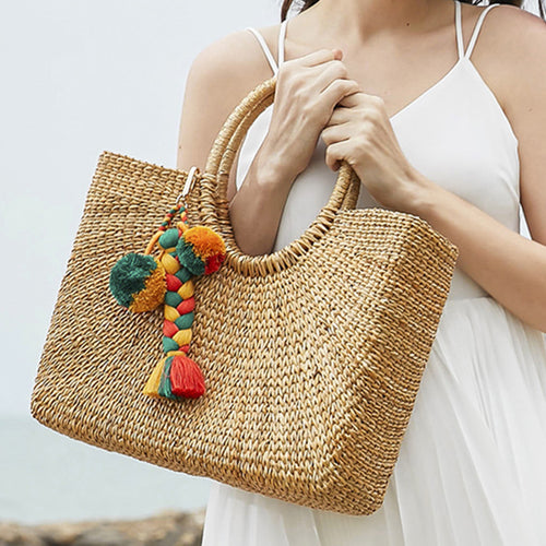 Meet you in Cancun-Bohemian Handmade Weaving Bag