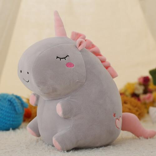 Peluche Licorne Kawaii Grey Clear