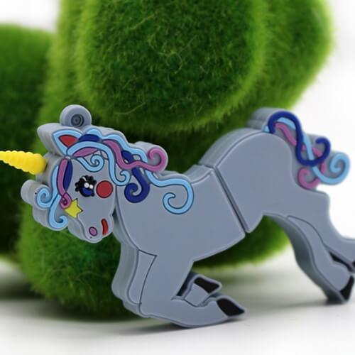 Clé Usb Licorne Blue Grey