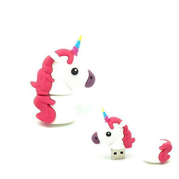 Clé Usb Licorne Red White