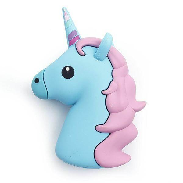Batterie Externe Licorne Blue Clear