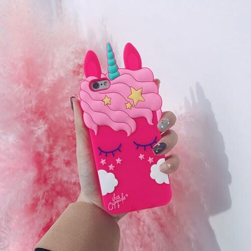 passion de licorne Deep Pink / iPhone 6/6s Coque 3D iPhone licorne et nuage (à partir du 6)