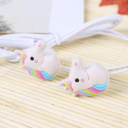 Ecouteurs Intra-Auriculaires Licorne Rainbow