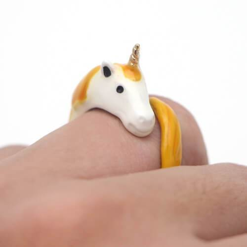 Bague Licorne Orange