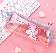 Passion de licorne  Rose clair PVC Trousse Kawaii