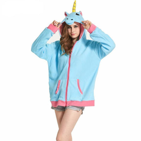 Sweat à capuche licorne