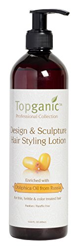 Topganic Design and Sculpture Hair Styling Lotion with Obliphica Oil, 13.5 Ounce