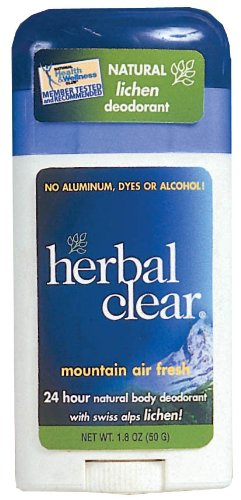 Herbal Clear Mountain Air Fresh Deodorant Stick, Swiss Alps Lichen, 1.8 Ounce